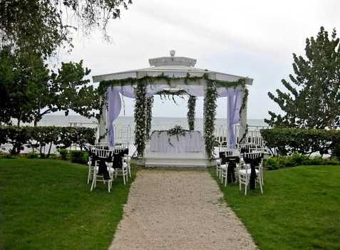 a private stretch of beach that is reserved only for wedding ceremonies