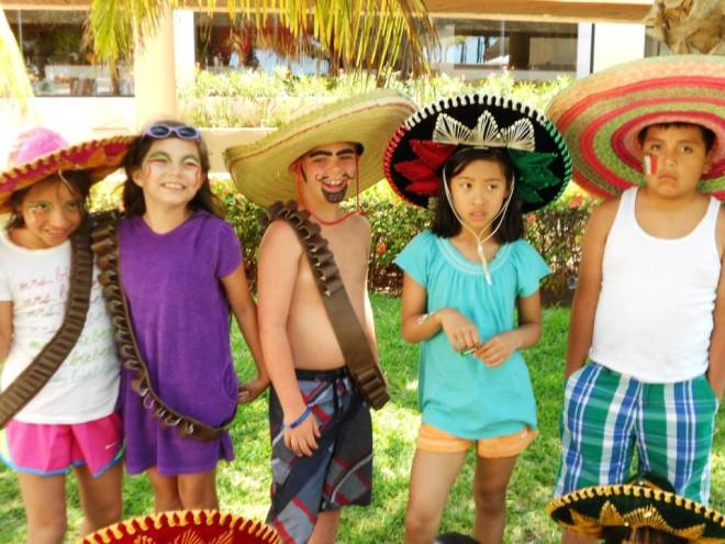 Celebrating at the Explorer's Club for kids at Dreams Cancun Resort & Spa.