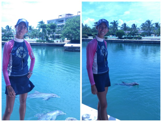 Our featured trainer, Leila, from Dolphin Dreams at Dreams Puerto Aventuras Resort & Spa!
