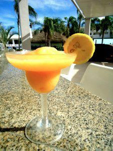 We love this fresh orange margarita at Dreams Cancun Resort & Spa!