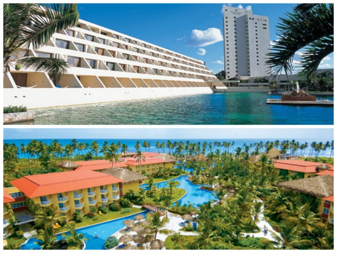 Dreams Cancun at the top - Dreams Punta Cana at the bottom!