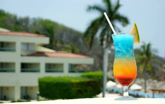This colorful drink is just one of many at Dreams Palm Beach Resort & Spa in Punta Cana.
