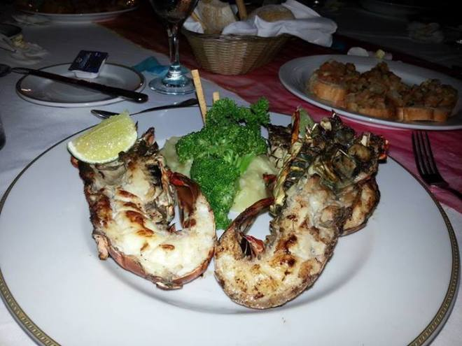 Jumbo grilled shrimp at Dreams Palm Beach Resort & Spa—yum! Thanks for sharing, Aly!
