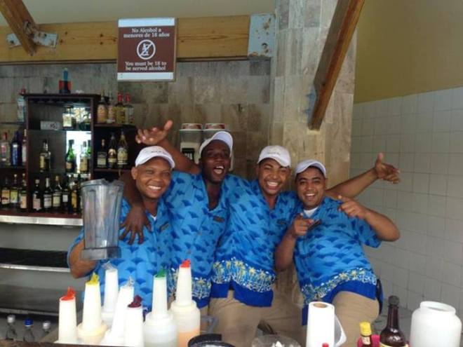 Recent guest Jamie shared this fun photo of the bartenders at Dreams Punta Cana Resort & Spa.