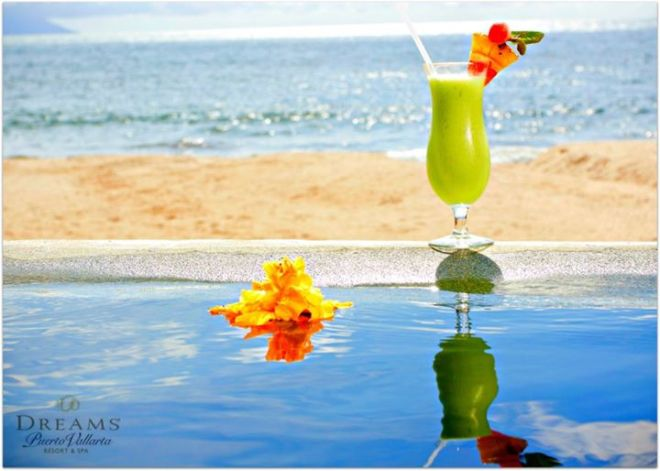 "Here's a snapshot of one of Dreams Puerto Vallarta's specialty cocktails—the ""Leaping Lizard!"""