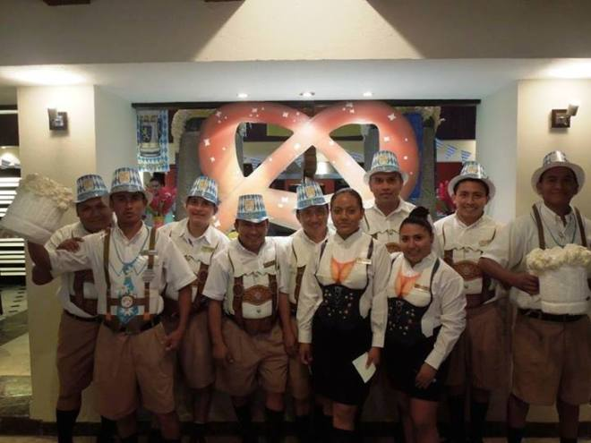 Our staff at Dreams Puerto Aventuras are looking festive for Oktoberfest!