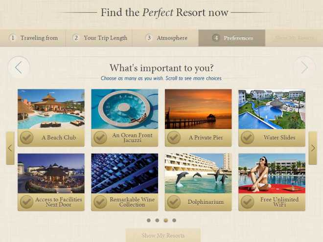 "The New ""Find Your Perfect Resort"" Tool!"