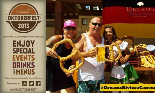 Our guests enjoyed some giant pretzels and pitchers of beer at Dreams Riviera Cancun Resort & Spa!