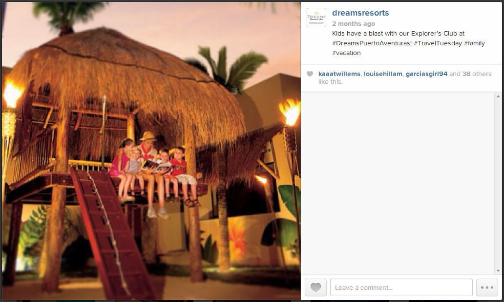 This Dreams Punta Cana picture sure made us smile ☺ Bring storybooks to life at Dreams Puerto Aventuras!
