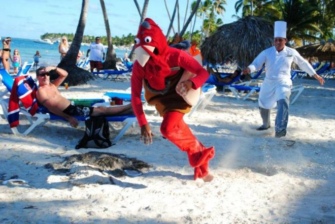 Catch that turkey!!! Thanksgiving fun at Dreams Palm Beach Punta Cana!