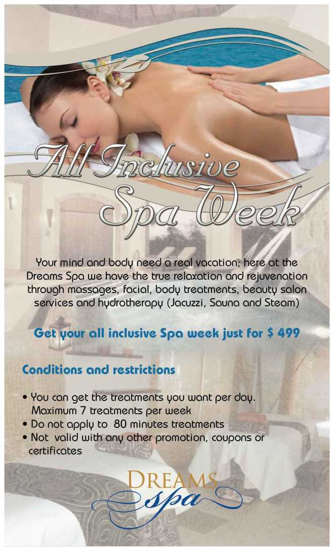 spa flyer - holidays