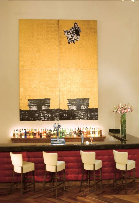 Dreams Tulum Resort & Spa's lobby bar is the perfect place to enjoy an after dinner drink.