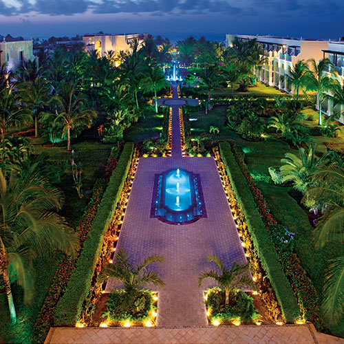 A breathtaking shot of the 44-acre gardens at Dreams Tulum!