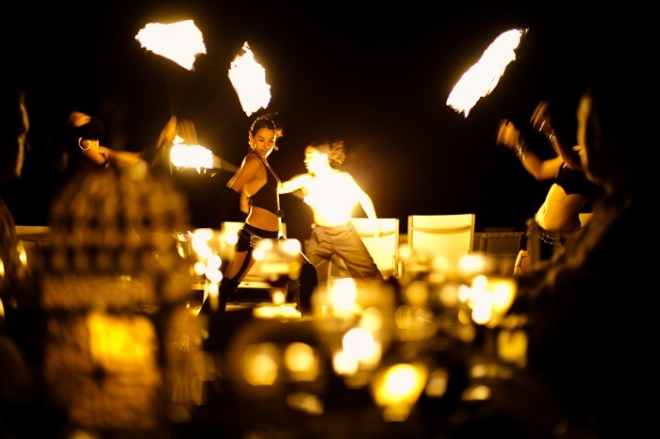 Entertain your guests with a spectacular fire show! Your guests will be posting all over social media #bestweddingever!