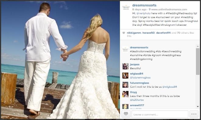 NeriPhoto wedding photographers take over the @DreamsResorts Instagram account!