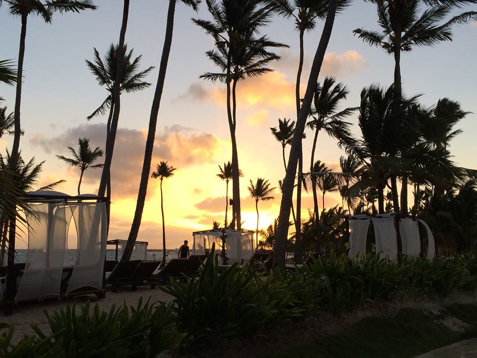 Because we can never get enough of the fabulous sunsets in the Dominican Republic, here's a shot from Marnie R. at Dreams Palm Beach Punca Cana Resort & Spa.