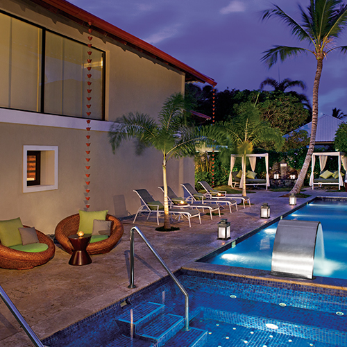 Hydrotherapy area at Dreams Palm Beach Punta Cana