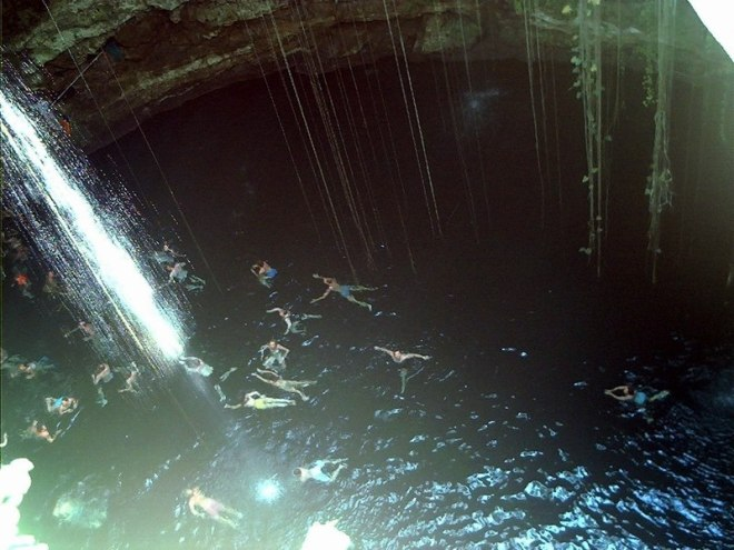 You'll never forget the experience of swimming in a cenote during your stay at Dreams Riviera Cancun Resort & Spa!