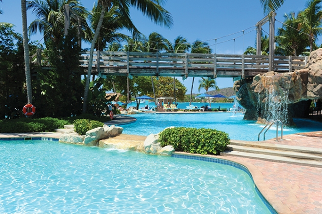 Sip your favorite drink by the beautiful pool at Dreams Sugar Bay St. Thomas.