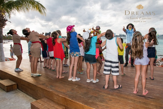 The Explorer's Club at Dreams Sands Cancun offers all sorts of fun activities for kids.