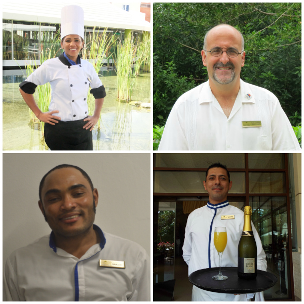 Congrats to Maritza Lance from the Food and Beverage Department at  Breathless Punta Cana, Alex Andrade the General manager of  Dreams Tulum, Orlando from  Secrets Wild Orchid &  Secrets St. James and Martin, a waiter in the World Café at  Dreams Riviera Cancun.