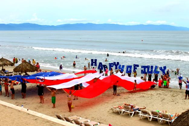The Red, White & Blue was celebrated in style at Dreams Villamagna Nuevo Vallarta
