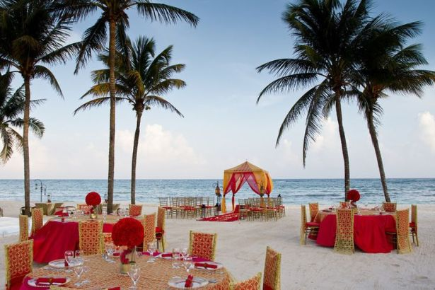 South Asian style wedding at Dreams Tulum