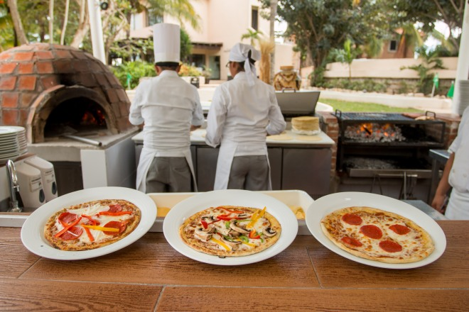 Barefoot brick oven and pizzas