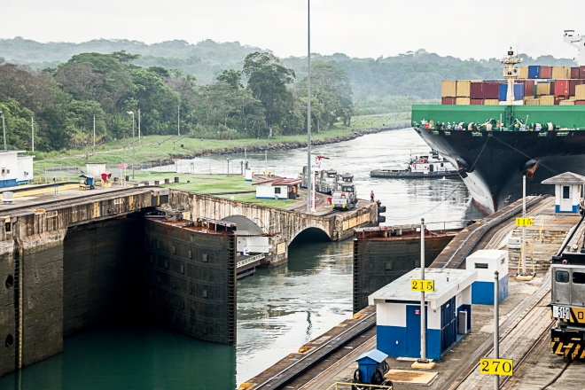 Gate Opening at Panama Canal